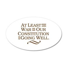 War on Constitution Wall Decal