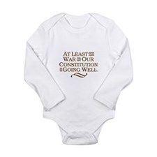 War on Constitution Long Sleeve Infant Bodysuit
