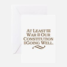 War on Constitution Greeting Card