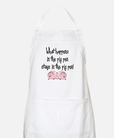 What happens with pigs ... BBQ Apron