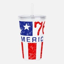 76-patriot-w.png Acrylic Double-wall Tumbler