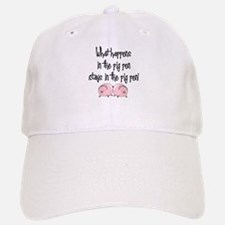 What happens with pigs ... Baseball Baseball Cap