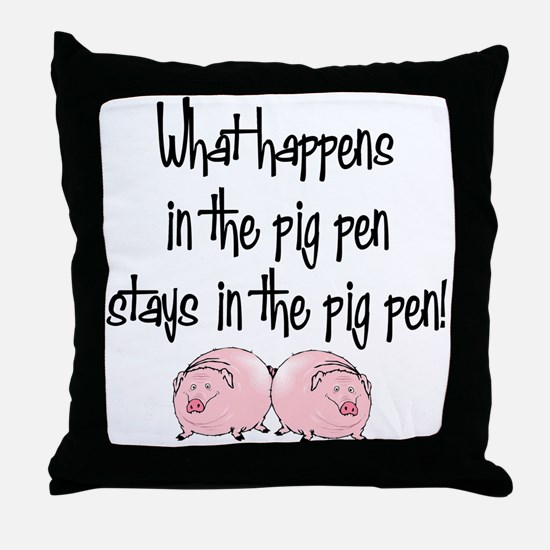 What happens with pigs ... Throw Pillow