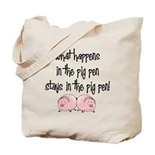 What happens with pigs ... Tote Bag