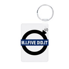 london-mi5-white.png Aluminum Photo Keychain