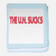 THE U.N. SUCKS baby blanket