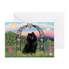 Rose arbor & Schipperke Greeting Cards (Pk of 10)