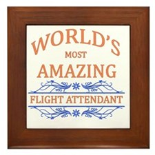 Flight Attendant Framed Tile