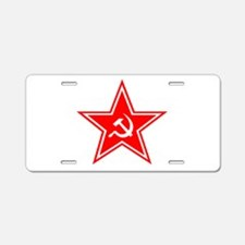 soviet-star-white-w.png Aluminum License Plate