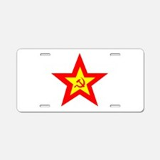soviet-star-w.png Aluminum License Plate