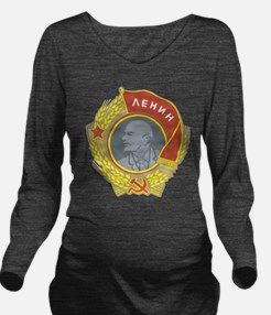 Lenin.png Long Sleeve Maternity T-Shirt