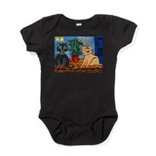 Cute Expressionist art Baby Bodysuit