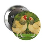 Wyandotte Rooster and Hen Button