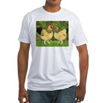 Wyandotte Rooster and Hen Fitted T-Shirt