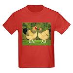 Wyandotte Rooster and Hen Kids Dark T-Shirt