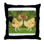 Wyandotte Rooster and Hen Throw Pillow
