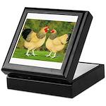 Wyandotte Rooster and Hen Keepsake Box