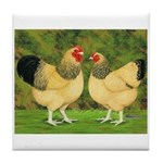 Wyandotte Rooster and Hen Tile Coaster