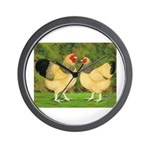 Wyandotte Rooster and Hen Wall Clock