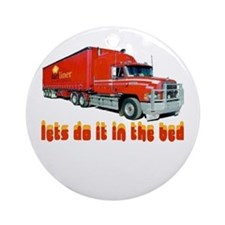 truck-n-w.png Ornament (Round)