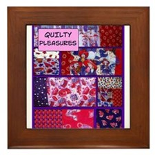 Maxine's Red Hat Quilt Framed Tile