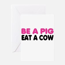 Unique Meat Greeting Card