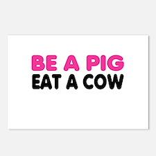 Cute Anti vegetarian Postcards (Package of 8)