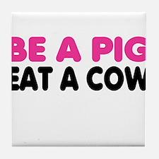 Cute Anti meat Tile Coaster