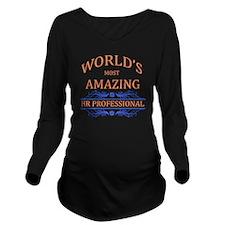 HR Professional Long Sleeve Maternity T-Shirt