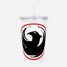 dragon-n-w.png Acrylic Double-wall Tumbler
