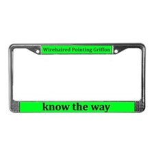 Wirehaired Pointing Griffons License Plate Frame