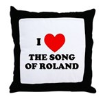 Song of Roland Throw Pillow