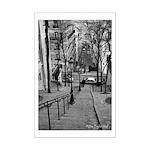 """""""Rue de Mont Cenis"""" Mini Poster Print"""
