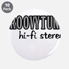 """GROOVYTUNE hi-fi stereo 3.5"""" Button (10 pack)"""