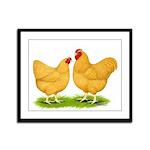Buff Wyandotte Chickens Framed Panel Print