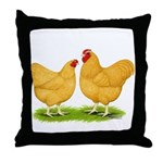 Buff Wyandotte Chickens Throw Pillow