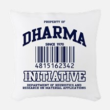 dharma-gear-w.png Woven Throw Pillow