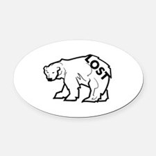 lost-polar.png Oval Car Magnet