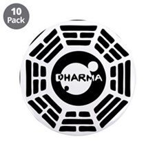 "3-dharma-karma.png 3.5"" Button (10 pack)"