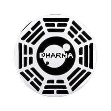 """3-dharma-karma.png 3.5"""" Button"""