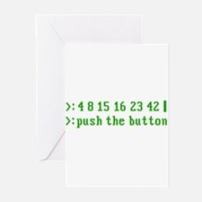 4-8-15-16-23-42-grn.png Greeting Cards (Pk of 20)