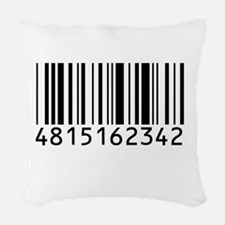 barcode-w.png Woven Throw Pillow