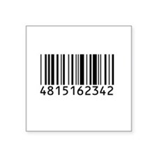 "barcode-w.png Square Sticker 3"" x 3"""