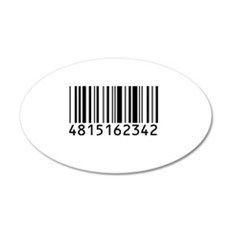 barcode-w.png 35x21 Oval Wall Decal