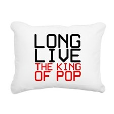 King of Pop Rectangular Canvas Pillow