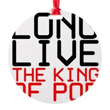 King of Pop Round Ornament