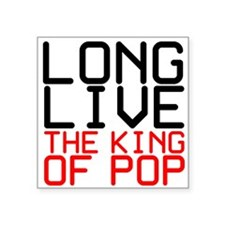 "King of Pop Square Sticker 3"" x 3"""