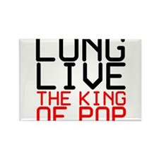 King of Pop Rectangle Magnet (10 pack)