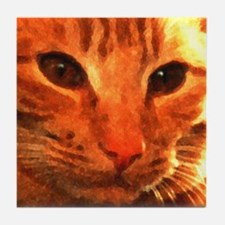 'Clyde the Ginger Cat' Tile Coaster