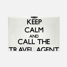 Keep calm and call the Travel Agent Magnets